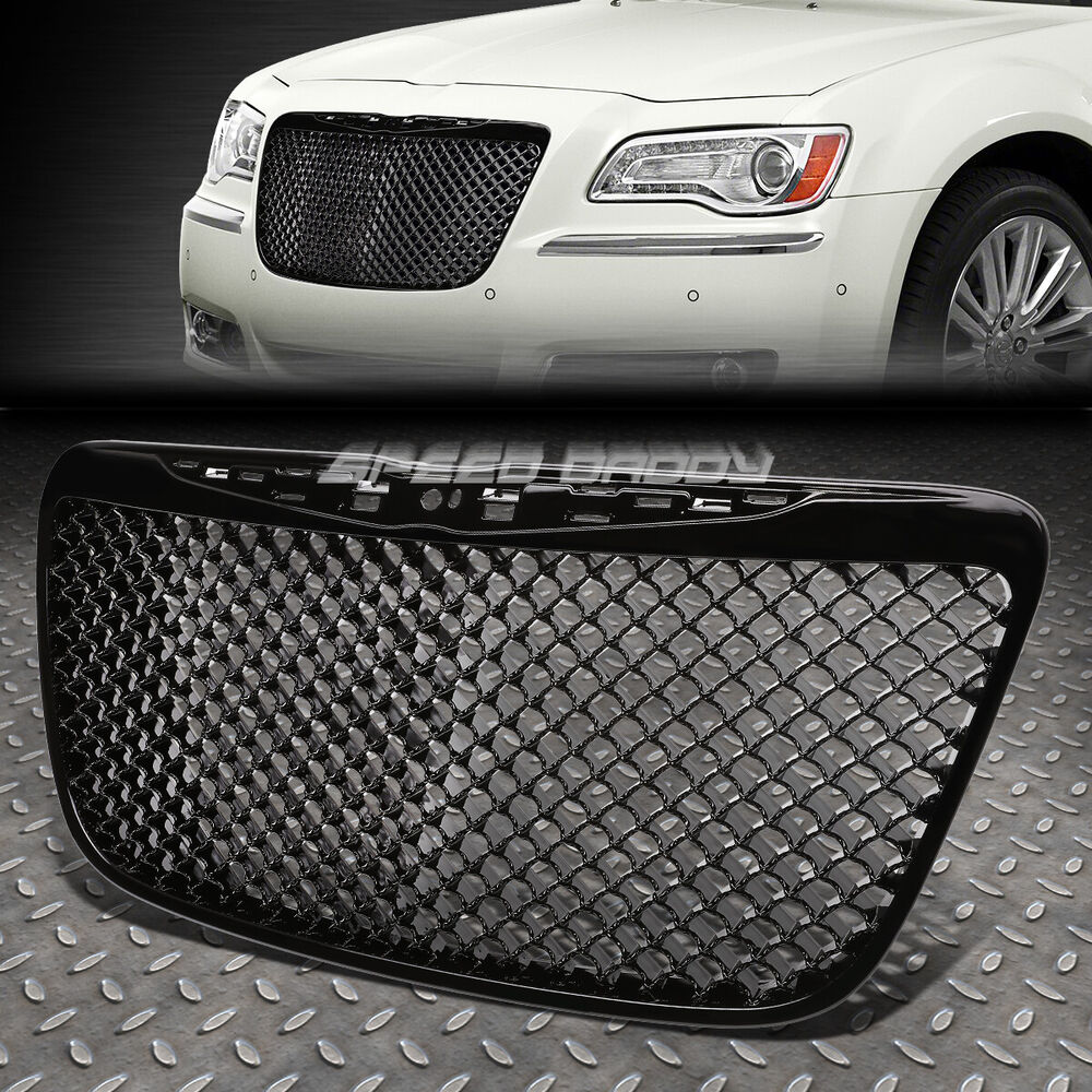 2011 2014 Chrysler 300 300c Fog Light Stainless Steel Mesh: BLACK LUXURY FRONT BUMPER ABS GRILL/GRILLE/FRAME 11-13