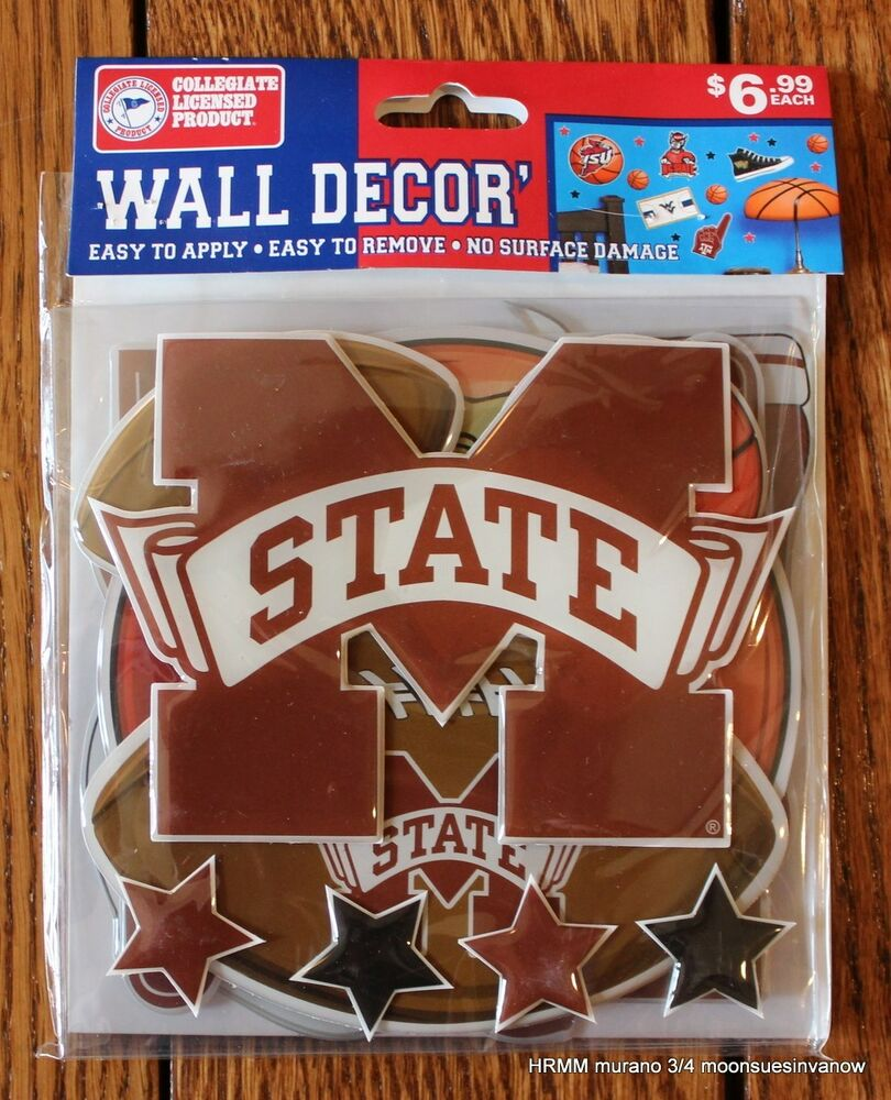 Mississippi state wall decor sticker ncaa licensed college for Penn state decorations home