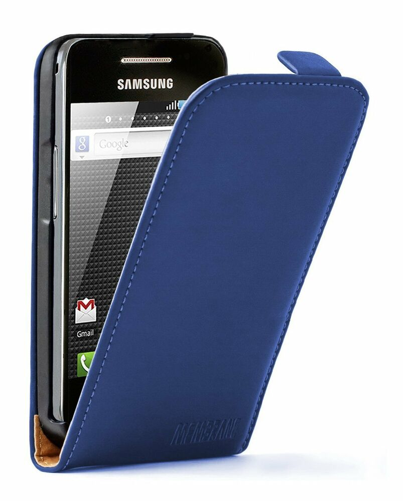ultra slim blue leather case for phone samsung galaxy ace