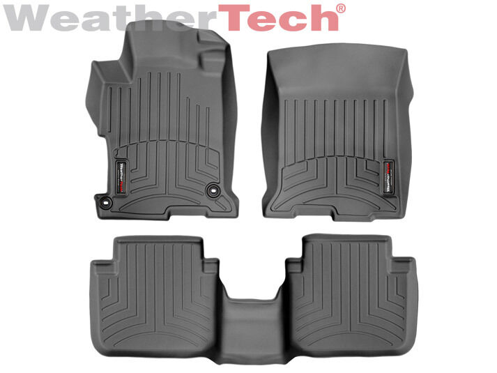 weathertech floor mat floorliner for honda accord sedan 2013 2017 black ebay. Black Bedroom Furniture Sets. Home Design Ideas