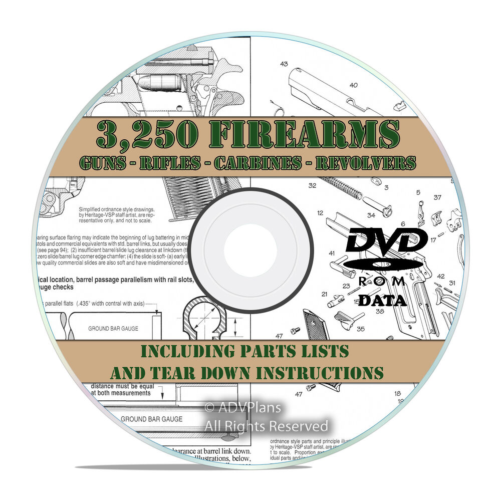3250 Rifle Gun Pistol Shotgun Owners Manuals And Tear Downs Pump Action Diagram On Dvd V21 Ebay