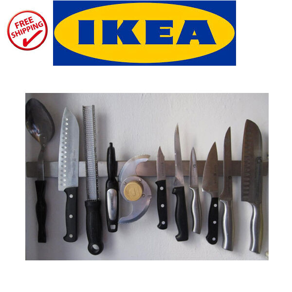 IKEA Grundtal Stainless Steel Magnetic Kitchen Knife Wall