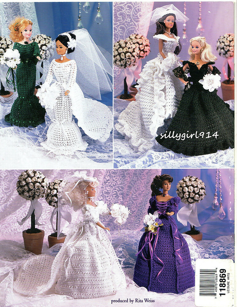 Wedding Day Crochet Pattern Book Only Fits Barbie Fashion Doll See Pictures Ebay