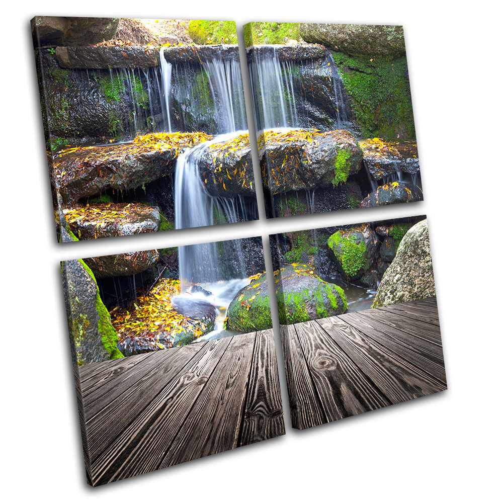 Wall Art Multi Canvas : Waterfall landscapes multi canvas wall art picture print