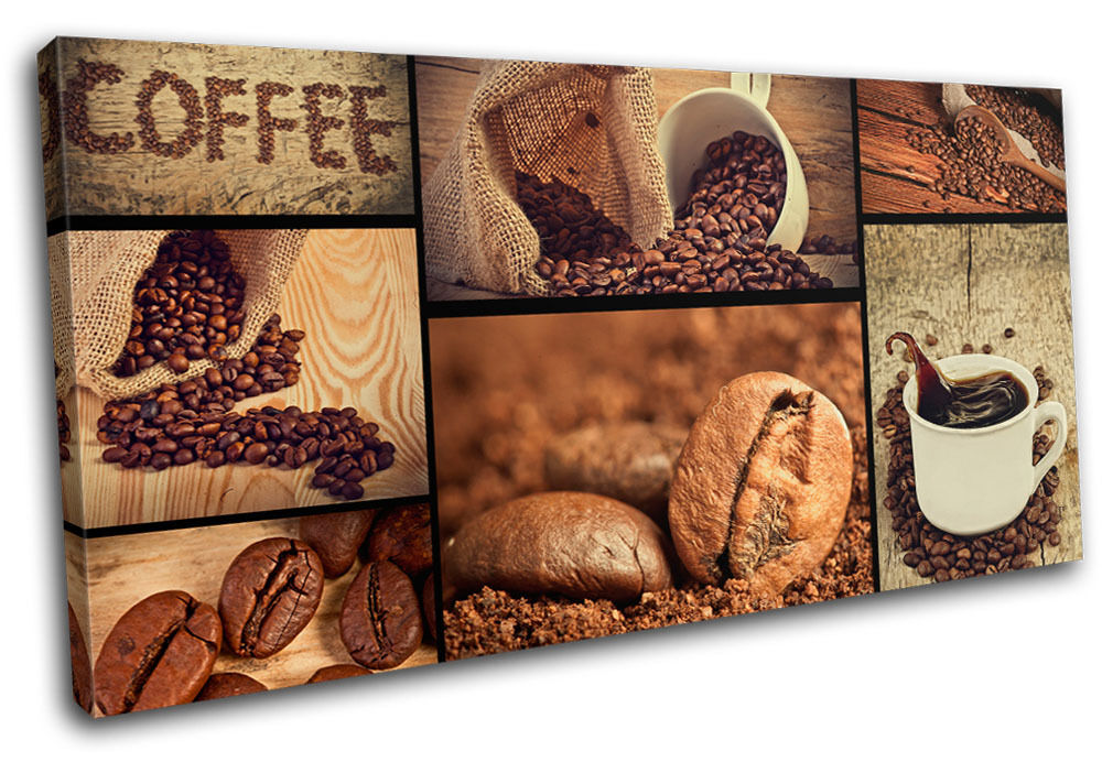 Coffee Shop Food Kitchen Single Canvas Wall Art Picture