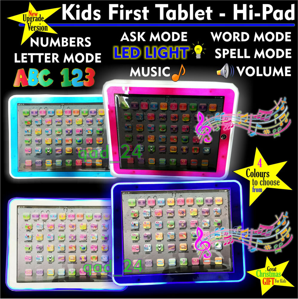 Led Tablet First Year Kids Pad Tab Educational Toy Fun