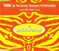 YORK - On The Beach/Reachers Of Civilization (UK 3 Trk CD Single)