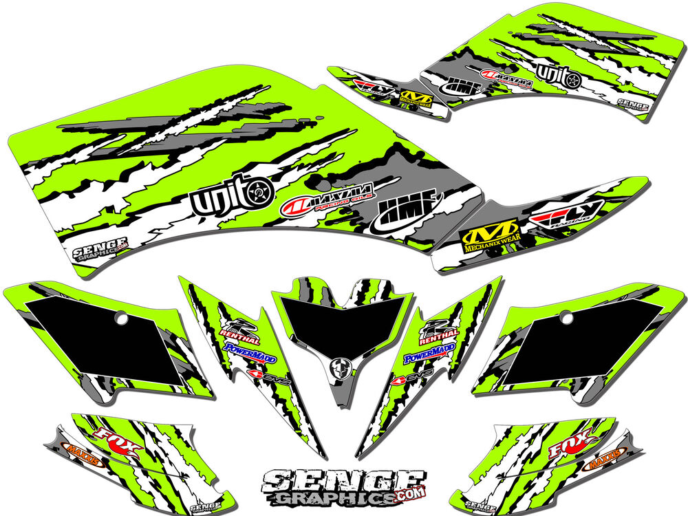 Kfx700 kfx 700 kawasaki graphics kit decals deco stickers for Sticker deco