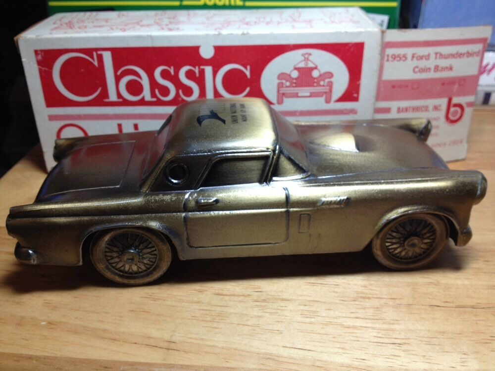 1955 ford thunderbird coin bank classic antique autos 1974. Black Bedroom Furniture Sets. Home Design Ideas