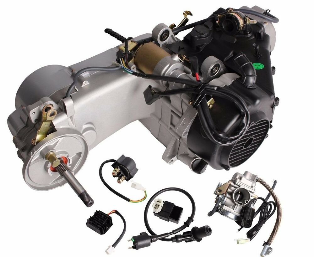 Short Case 150CC GY6 Scooter ATV Go-Kart Engine Motor 150 CVT Auto Carb Complete | eBay