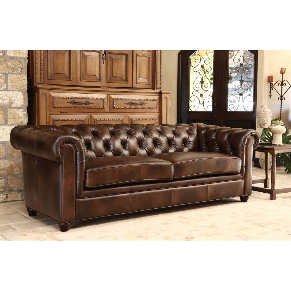 Leather Couch: ABBYSON LIVING Tuscan Premium Italian Leather Sofa