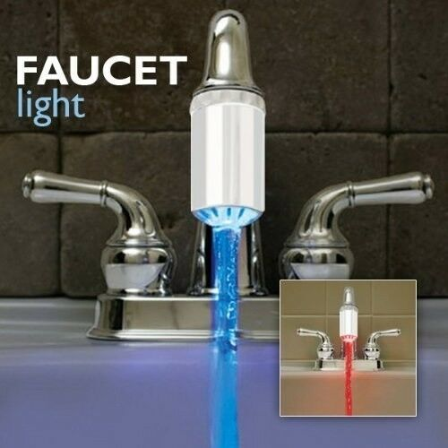 Bathroom Light Temperature: Temperature Controlled Faucet Light, NEW By Hog Wild