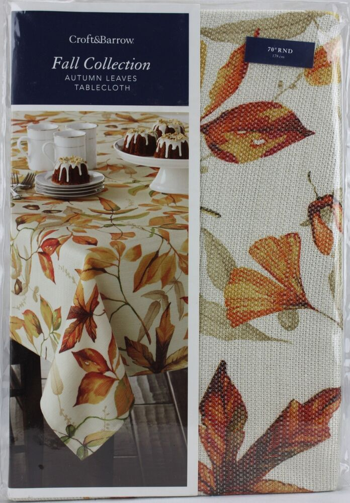 Croft Amp Barrow Fall Collection Autumn Leaves 70 Quot Round
