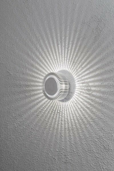 Applique murale ronde led lampe ext rieur aluminium design for Applique murale exterieur ebay