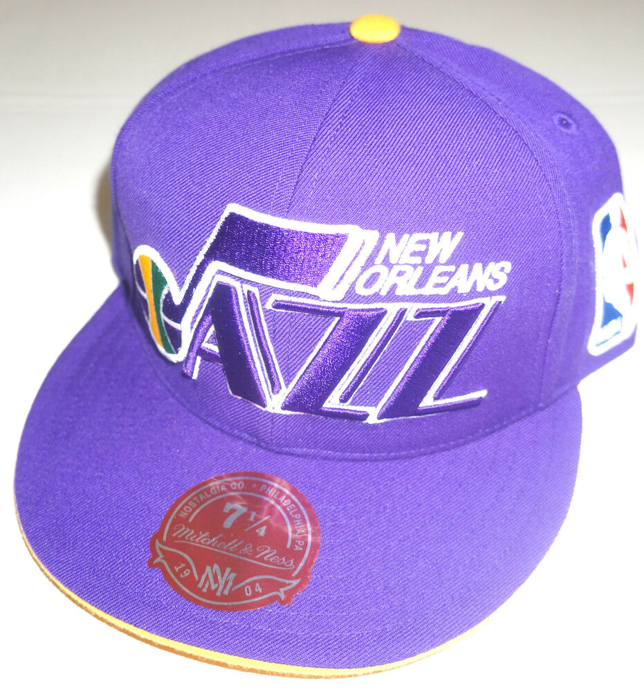 Logo7 2 >> NBA New Orleans Jazz Mitchell and Ness Cap Hat M&N NEW! | eBay