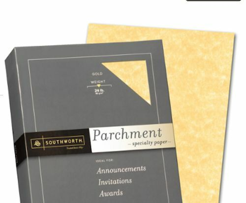Where to buy parchment paper for invitations