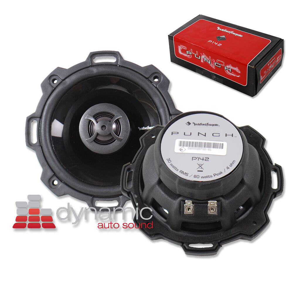 rockford fosgate p142 4 2 way punch series coaxial car. Black Bedroom Furniture Sets. Home Design Ideas