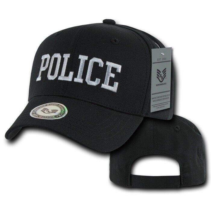 black police officer law enforcement cop cotton baseball