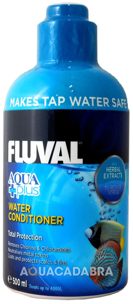 Fluval aquaplus 500ml water conditioner fish tank tap safe for How to make tap water safe for fish