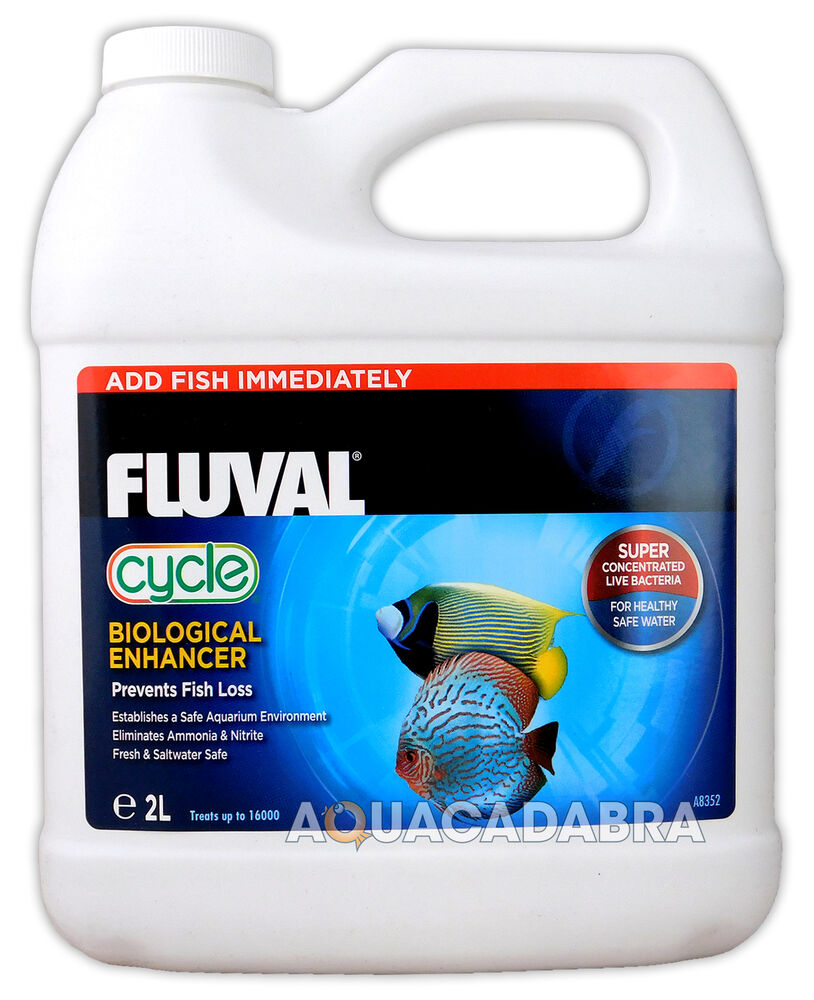 Fluval biological cycle 2l litre water filter bacteria for Water conditioner for fish tank