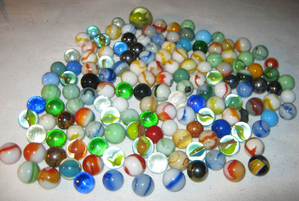 Glass Marbles Game : Lot  s vintage boy man toy game glass art