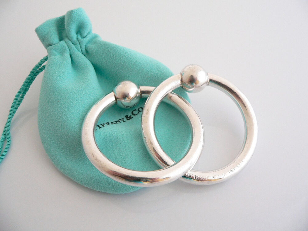 Tiffany Amp Co Silver Double Circle Baby Rattle Teether