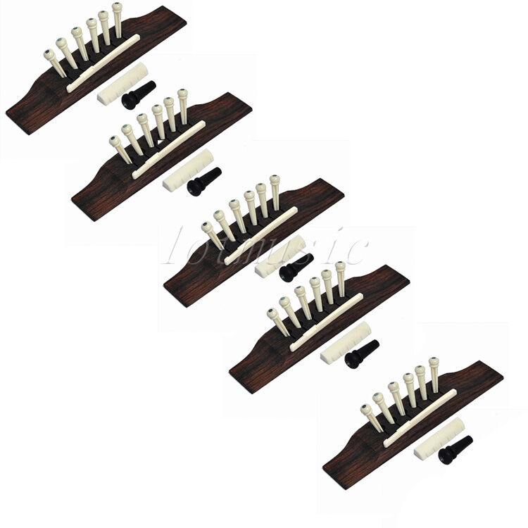 5 sets acoustic guitar bridge bone pins saddle nut guitar parts replacement ebay. Black Bedroom Furniture Sets. Home Design Ideas