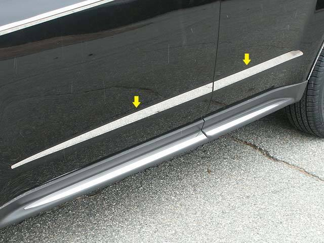 Fits Chevy Equinox 2010 2016 Stainless Chrome Body Side