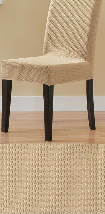 set of 4 stretch dining chair covers subway tile ebay. Black Bedroom Furniture Sets. Home Design Ideas