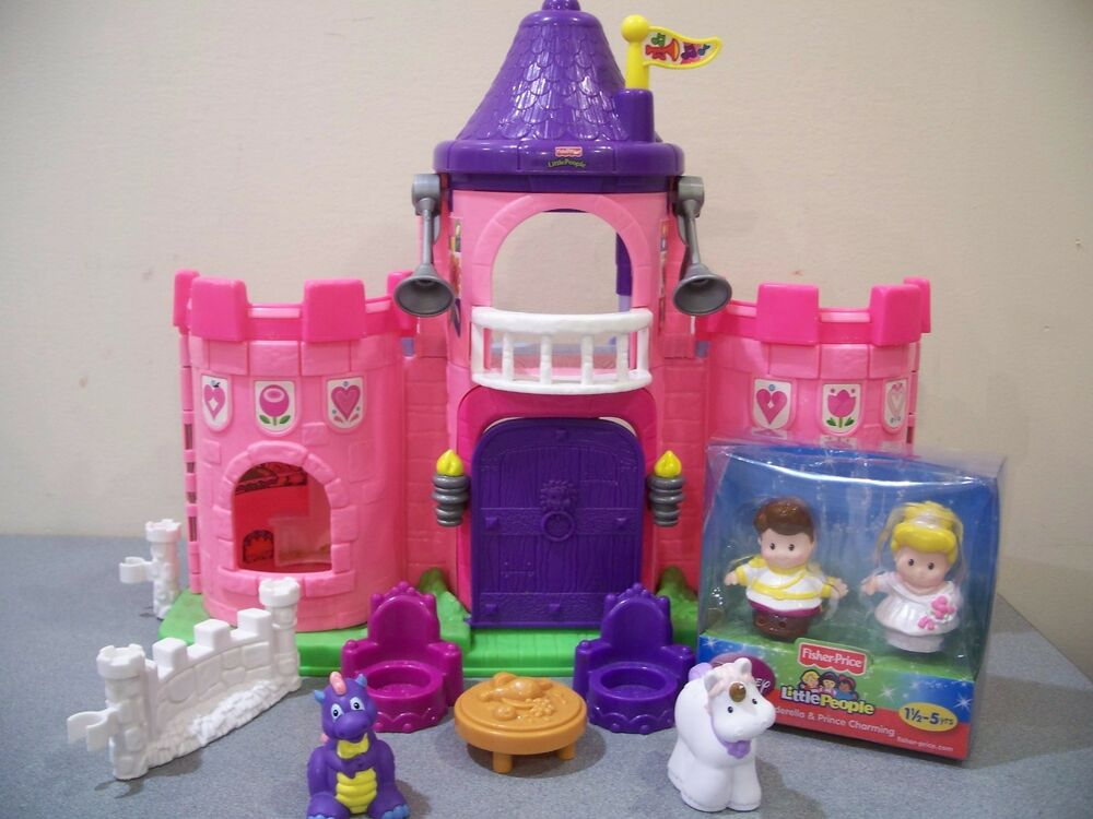Fisher price little people princess castle palace sound for Little princess castle