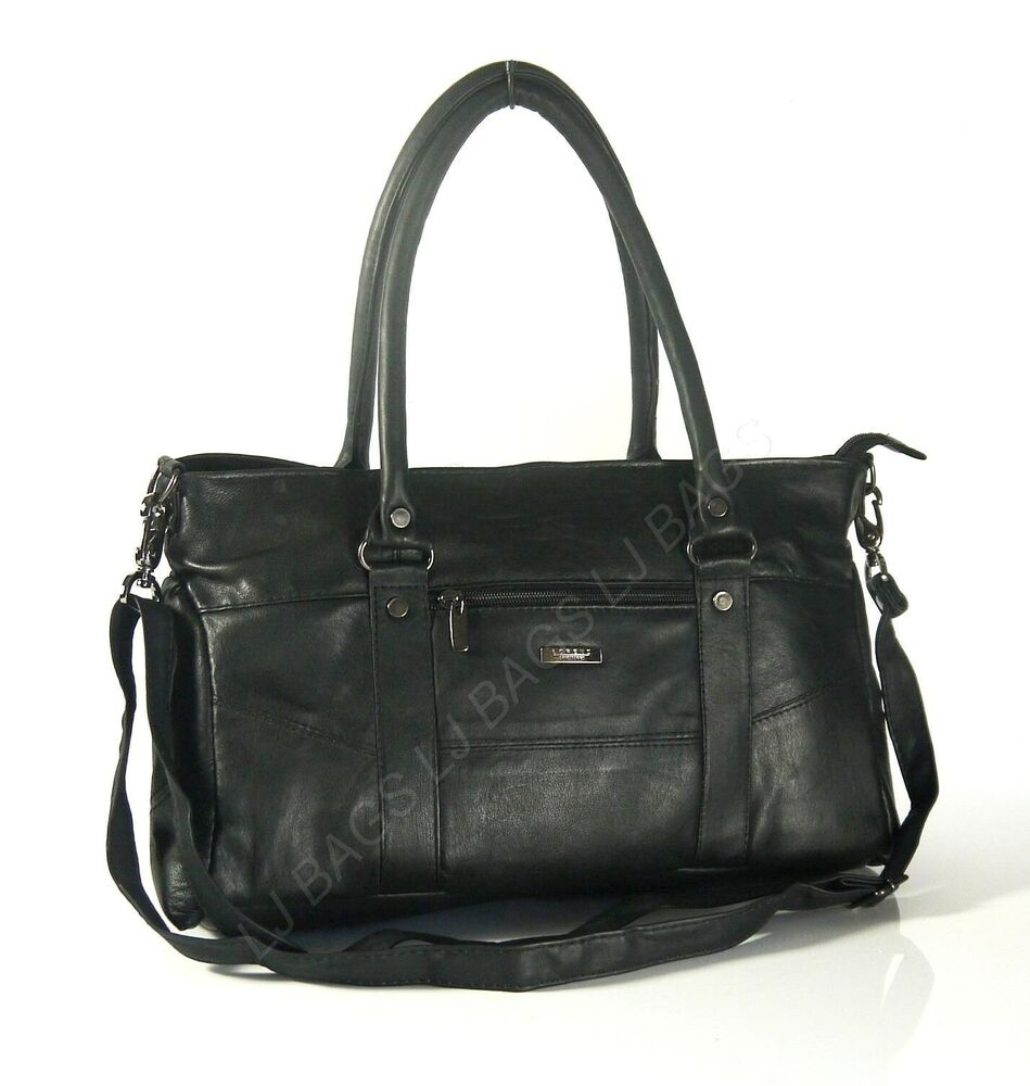 Black Leather Bags. Clothing & Shoes / Handbags / Shop By Style / Leather Bags. of Results. Coach Taylor Black Pebbled Leather Tote Bag. 10 Reviews. More Options. Handmade Phive Rivers Women's Leather Hobo Bag (Italy) - One size. 1 Review. SALE ends in 2 days.