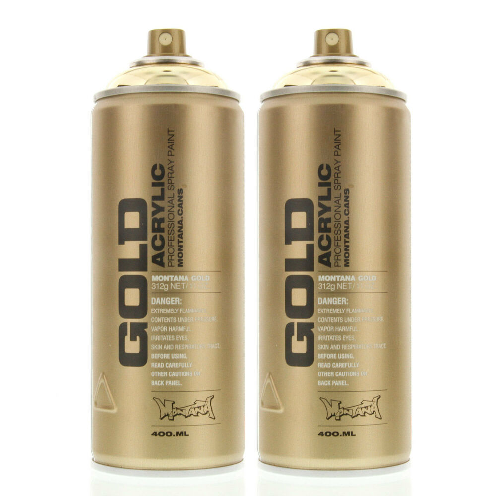 Montana Gold Acrylic Spray Paint Goldchrome M3000 Urban Art 2 Cans Ebay