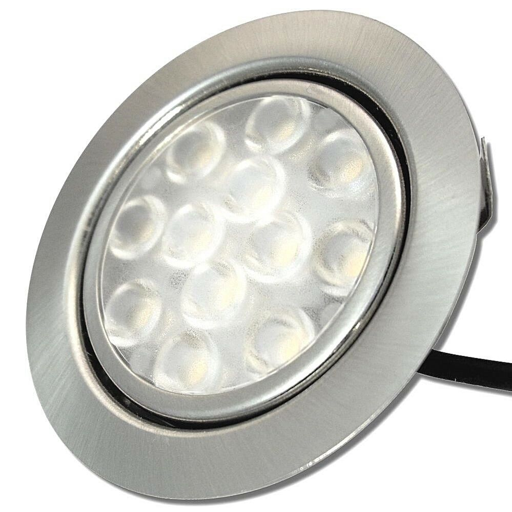 Kleine flache led einbauspots 12v 3w ip20 warmwei for Flache led spots