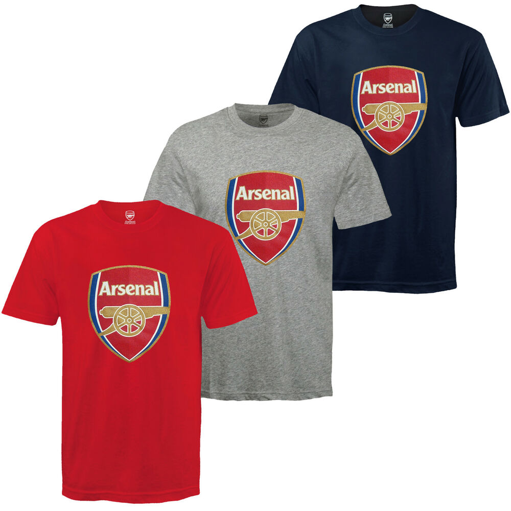 5401a0d81 Details about Arsenal FC Official Football Gift Kids Crest T-Shirt