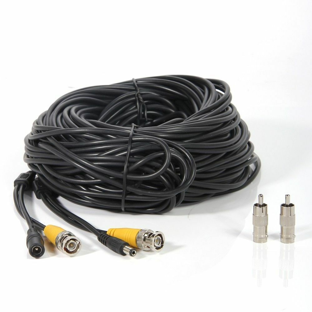 100ft Rca Video Power Cable Home Security Ccd Camera Cord