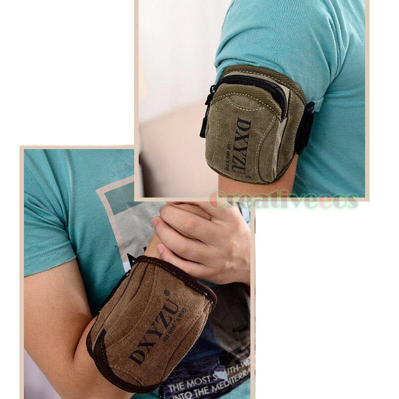Men 39 S Canvas Fitness Jogging Running Pouch Wrist Arm Band