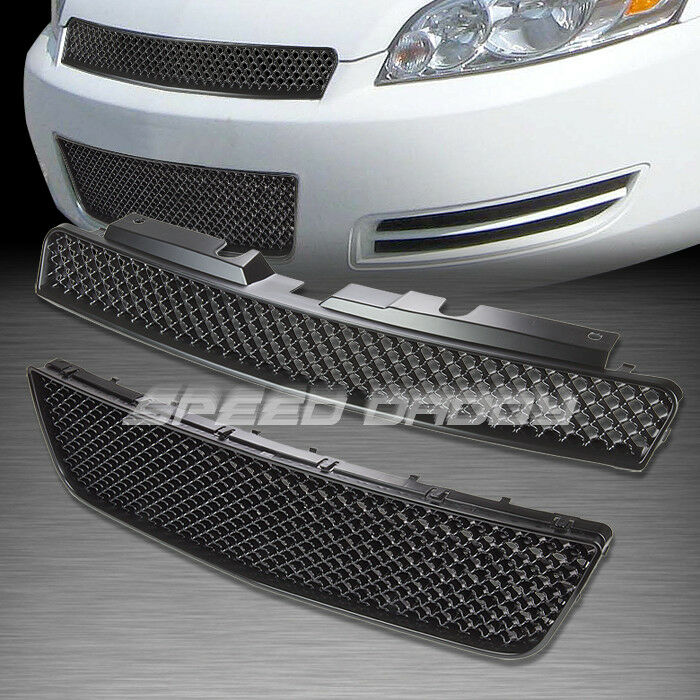 Mesh Front Upper Lower Hood Bumper Abs Grill Grille Frame