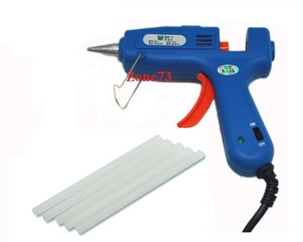 Best 20w hot melt glue gun 5 glue sticks electric for Hot glue guns for crafts