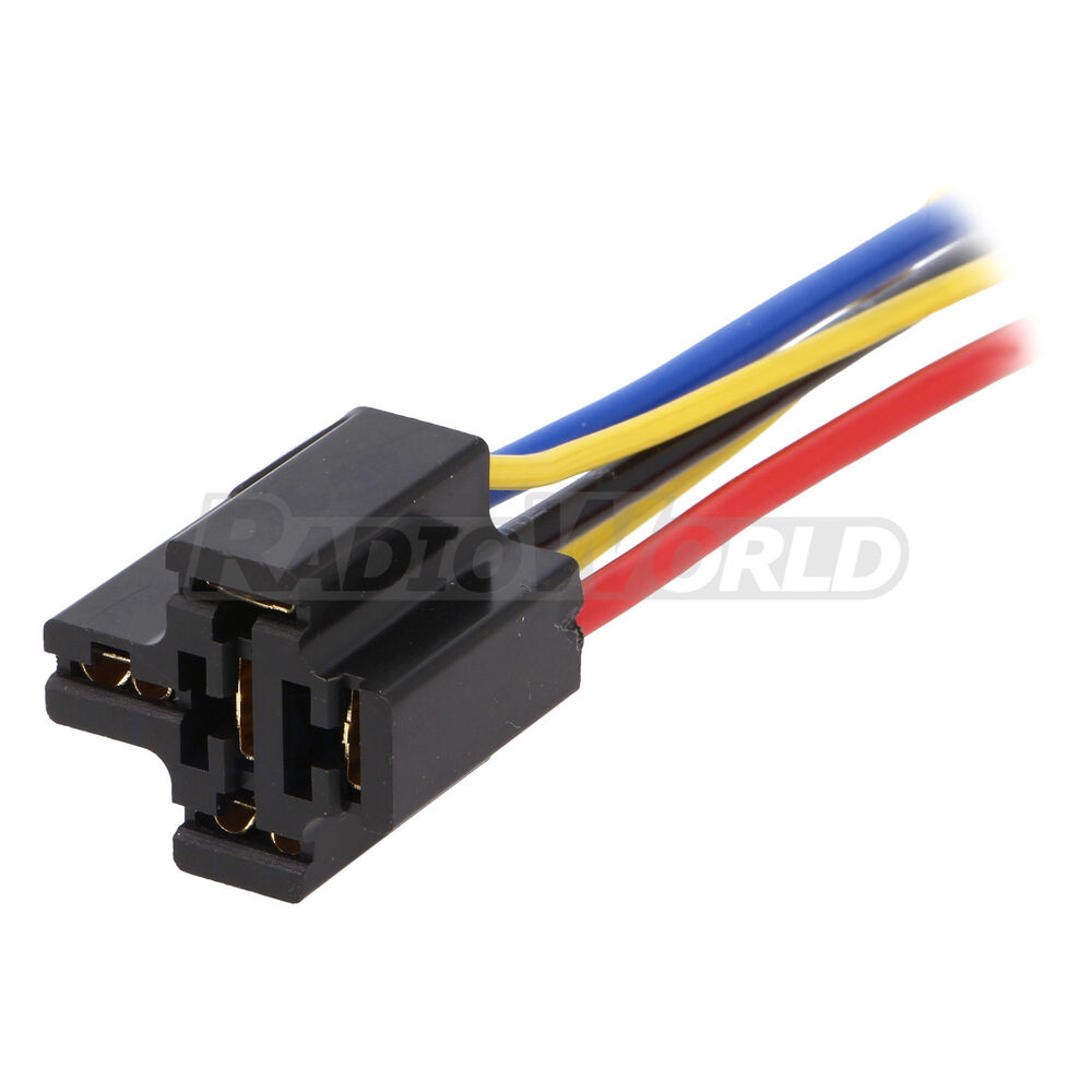 Pre Wired 4    5 Pin Relay Mounting Base Socket Holder 12v