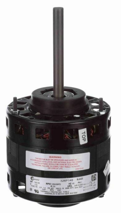 1 6 hp 1050 rpm cw 5 2 speed 115 volts direct drive for 1 hp motor rpm