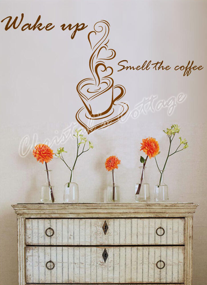 Coffee Sign Window Wall Art Sticker Decal Fashion Decoration Cafe