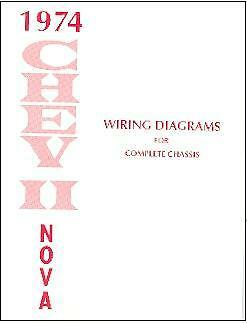 1974 74 nova  chevy ii wiring diagram manual ebay