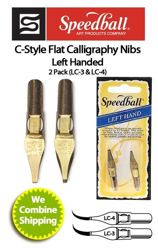 Speedball Calligraphy Left Hand Nib Two Pack Lc3 Lc4