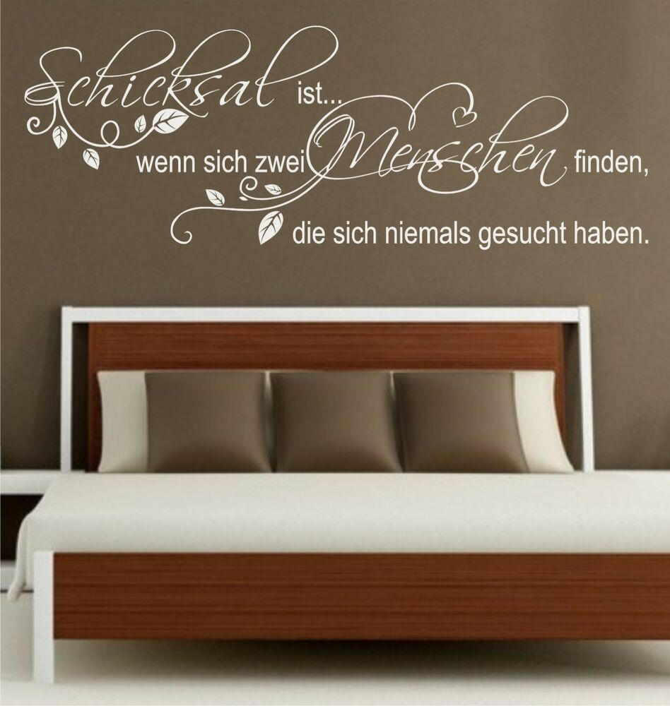 wandtattoo spr che schicksal ist zwei menschen. Black Bedroom Furniture Sets. Home Design Ideas