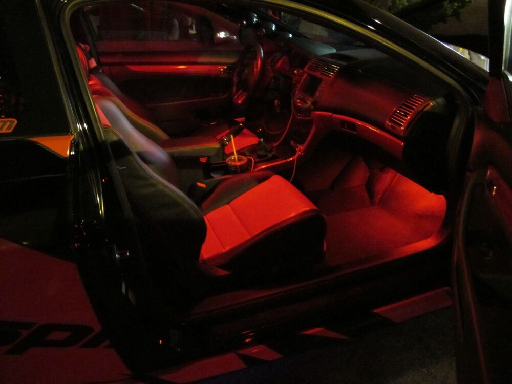 Red Led Interior Package For 2013 2014 2015 Honda Accord Coupe Sedan 9th Gen 6pc Ebay