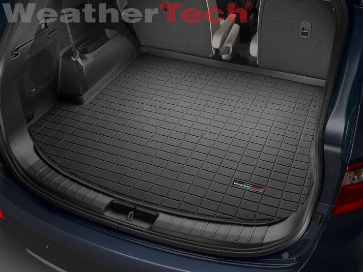 weathertech cargo liner for hyundai santa fe with 3rd row 2013 2018 black ebay. Black Bedroom Furniture Sets. Home Design Ideas