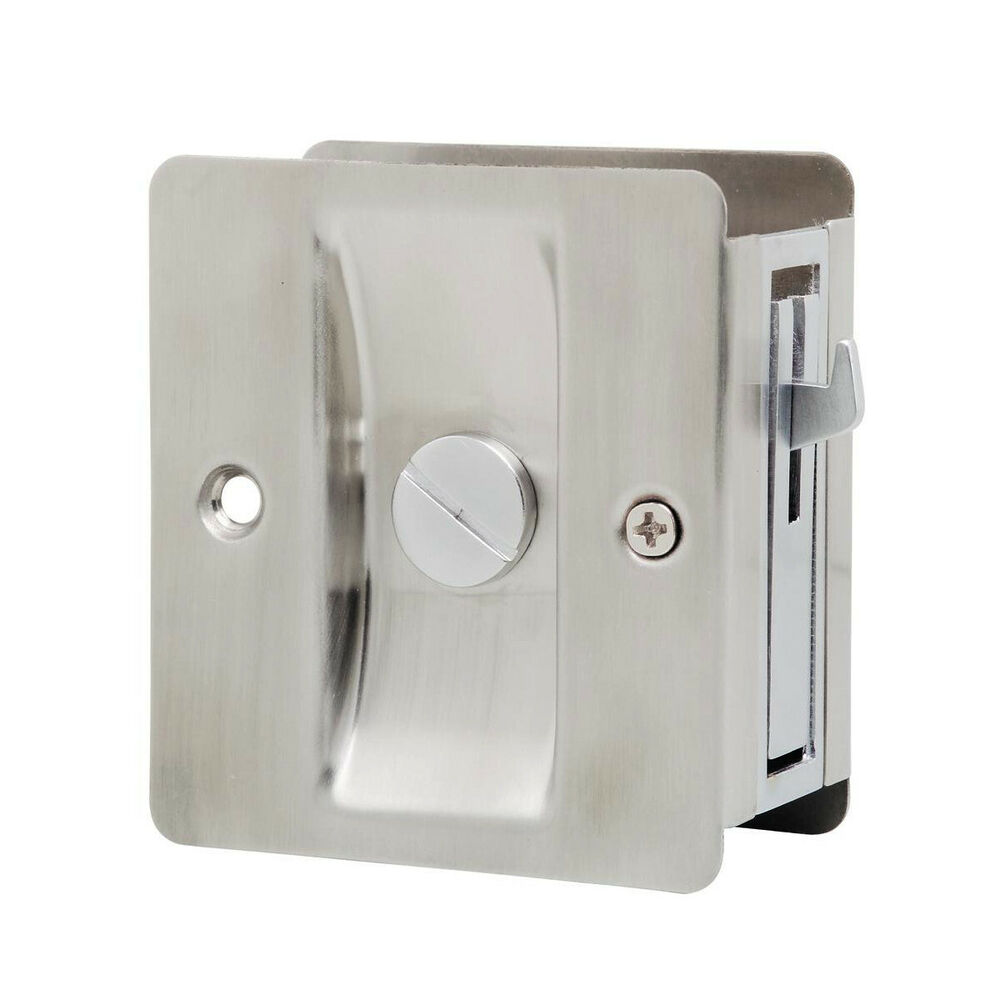 Lockwood Cavity Sliding Door Lock 7300sssdp Privacy Satin