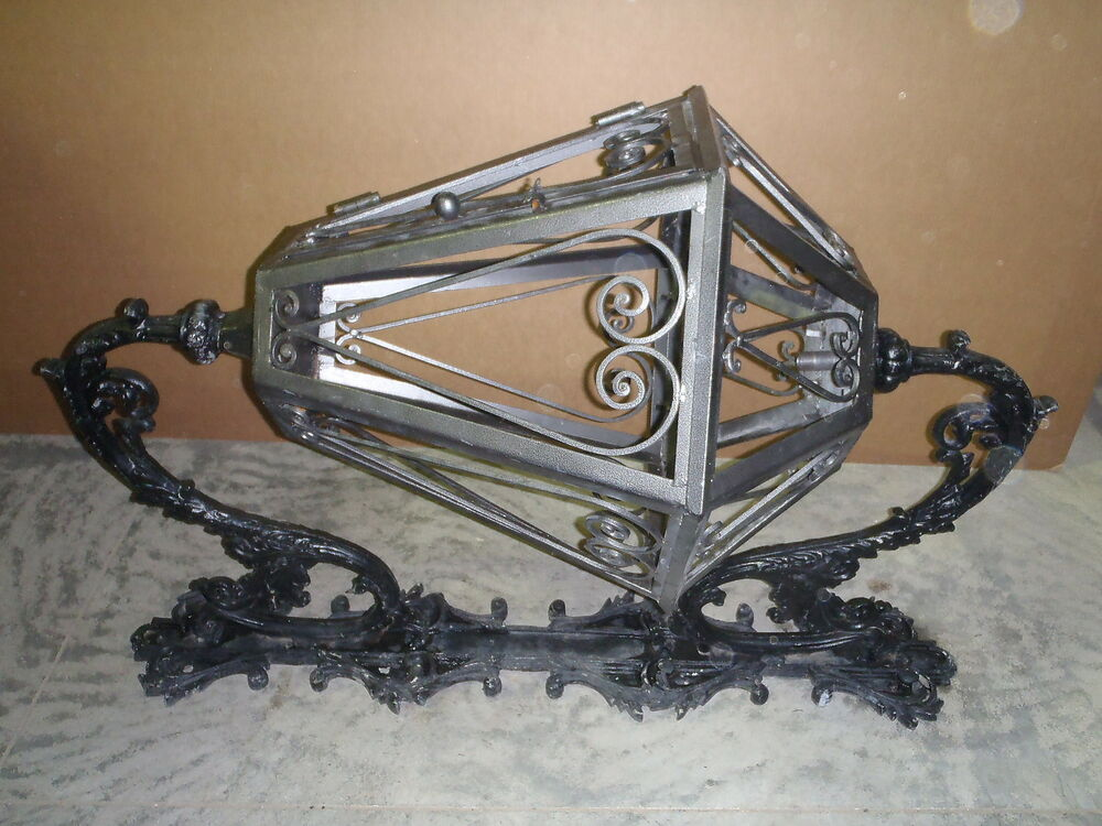 Cast iron gothic light housing frame rotating wall mounted