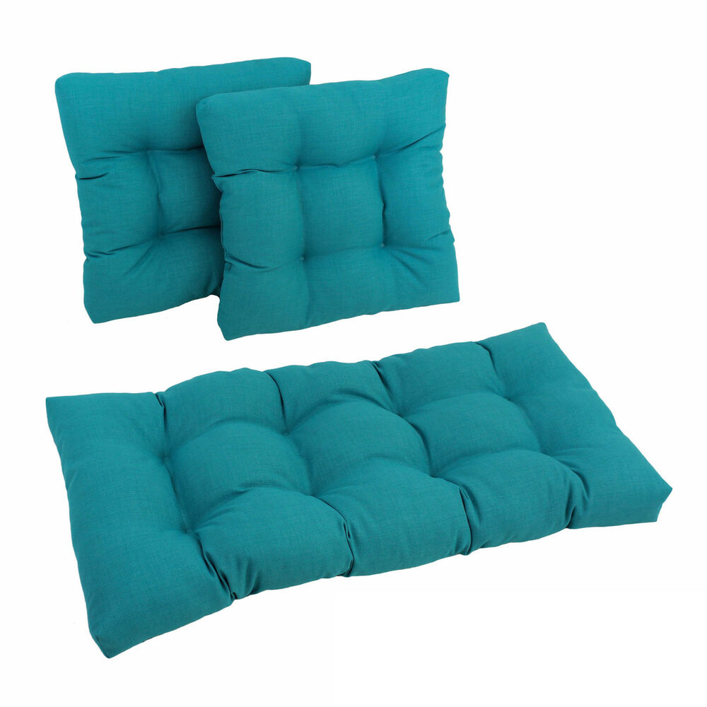 Blazing Needles Outdoor Spun Poly Settee Cushions Set Of