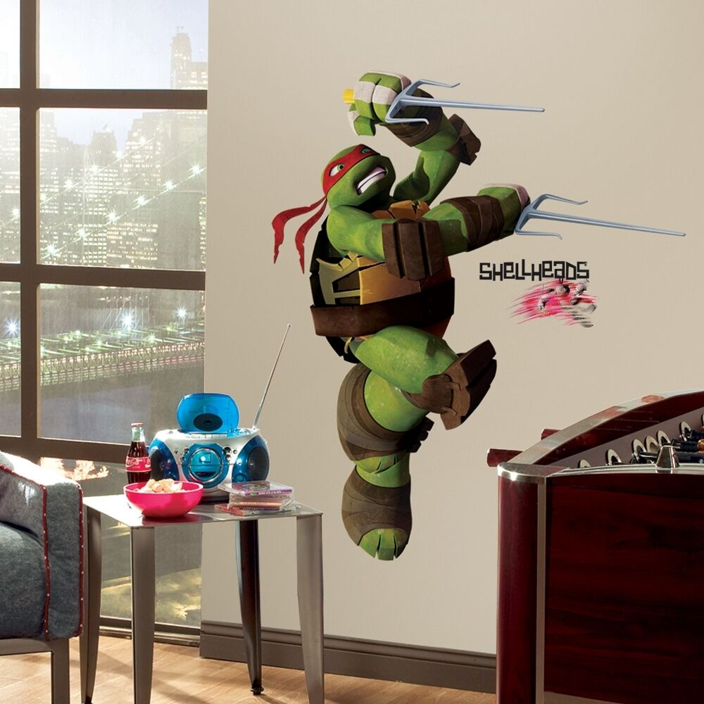 Raphael giant wall decals teenage mutant ninja turtles for Tmnt decorations